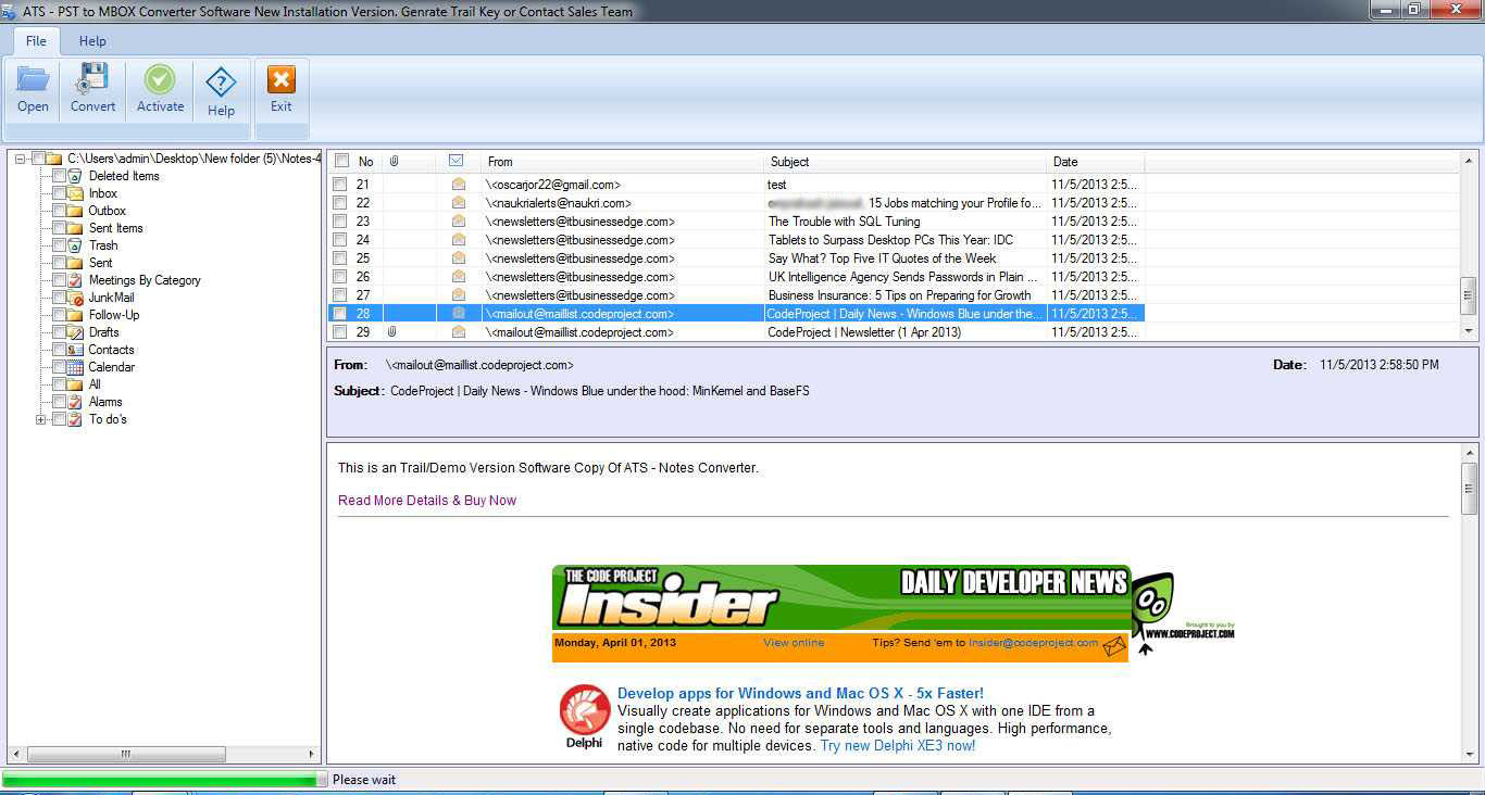 NSF to PST Converter - Convert Free Lotus Notes File in Outlook